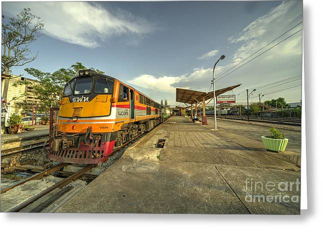 Surat Thani Station  Greeting Card by Rob Hawkins