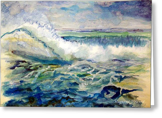 Surf 2 Greeting Card