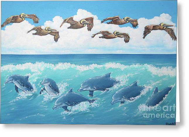 Surf And Soar Greeting Card