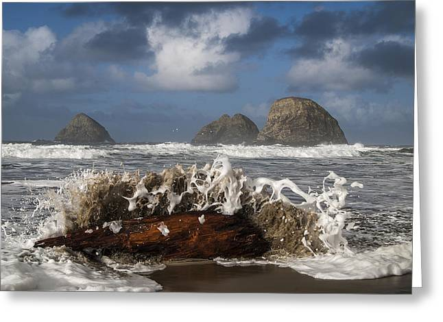 Surf And Three Arch Rocks Greeting Card