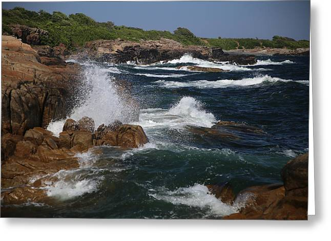 Surf At Biddeford Pool Greeting Card