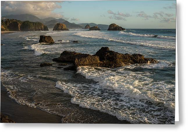 Surf At Crescent Beach Greeting Card