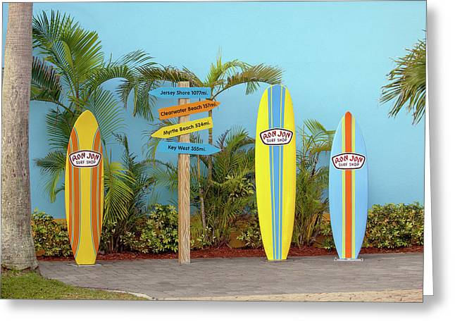 Surf Boards At Ron Jon's Greeting Card