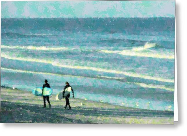 Surf Brothers Greeting Card