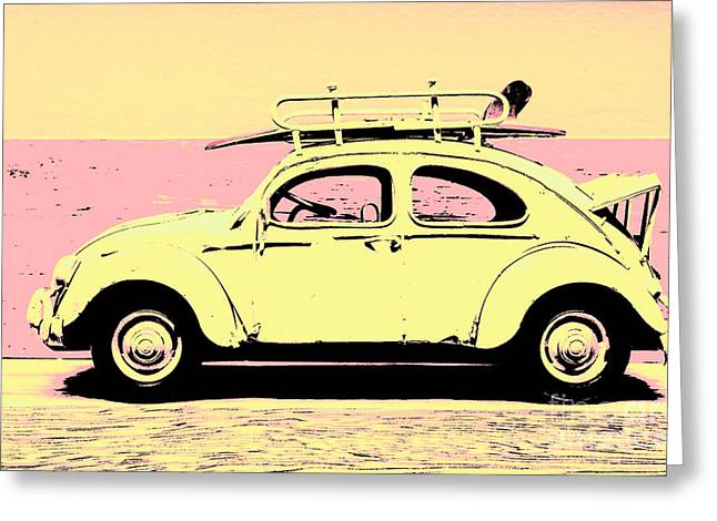 Surf Bug Popart Poster  Greeting Card by Jorgo Photography - Wall Art Gallery