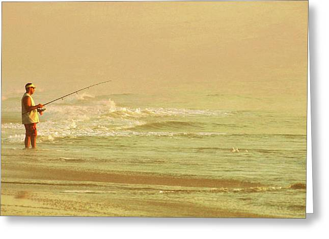 Surf Casting Greeting Card by JAMART Photography
