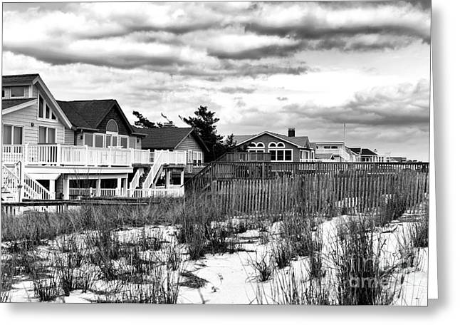 Surf City Clouds Greeting Card by John Rizzuto