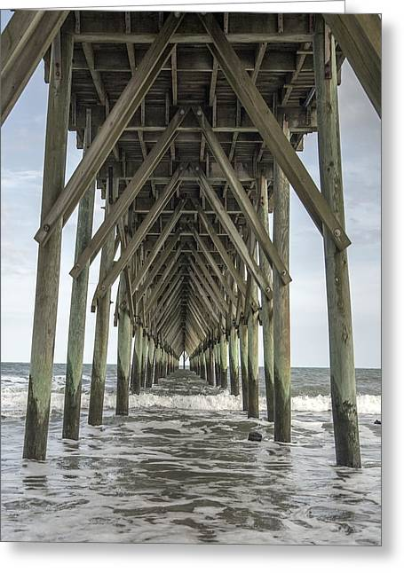 Surf City Pier Classic Greeting Card by Betsy Knapp