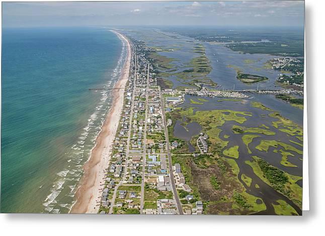 Surf City Topsail Island Longview Greeting Card