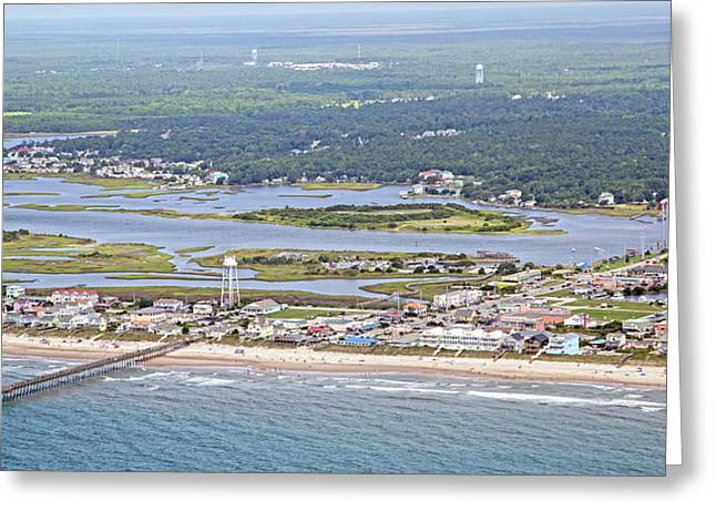 Surf City Topsail Island Sw Greeting Card by Betsy Knapp