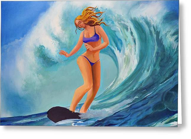 Surf Goddess Greeting Card by Geoff Greene