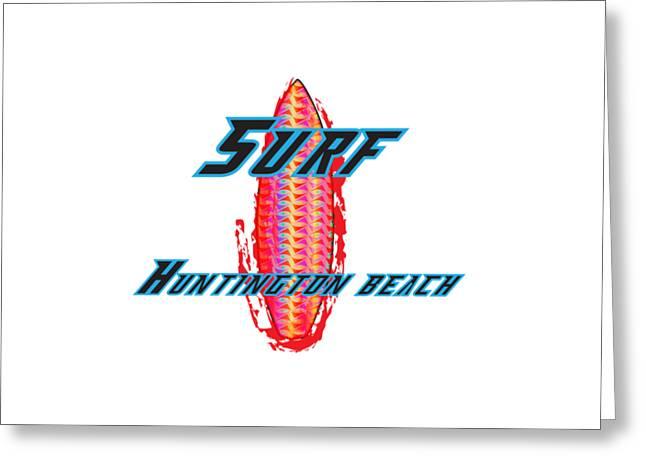 Surf Huntington Beach Greeting Card by K D Graves