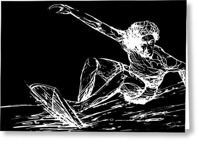 Larry Bertlemann B And W Greeting Card by Andoni Galdeano