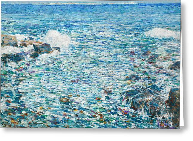 Surf, Isles Of Shoals, 1913 Greeting Card by Childe Hassam