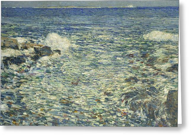 Surf, Isles Of Shoals Greeting Card by Childe Hassam