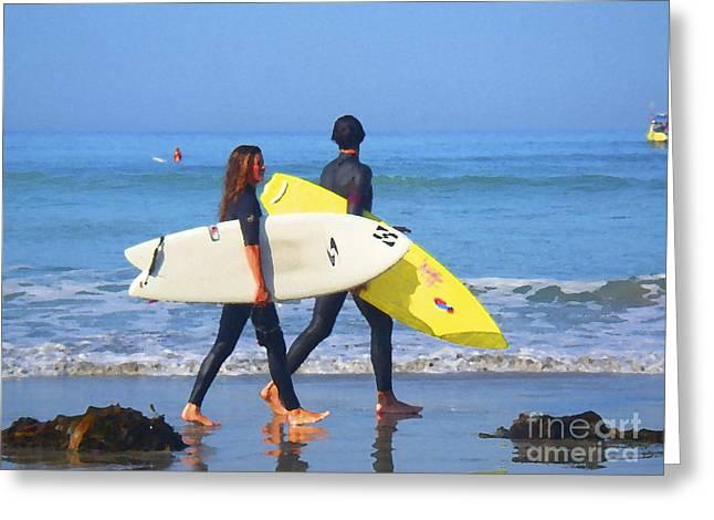 Surf Mates Greeting Card