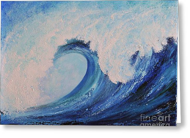 Greeting Card featuring the painting Surf No.2 by Teresa Wegrzyn