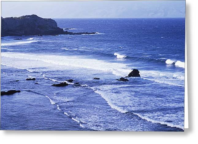 Surf On The Coast, Honokohau Bay, Maui Greeting Card by Panoramic Images