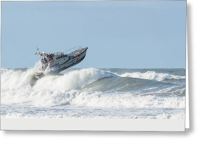 Surf Rescue Boat V2 Greeting Card