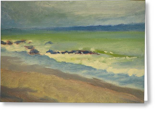 Surf Greeting Card by Robert Bissett