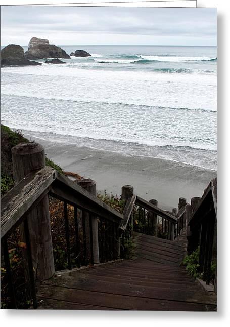 Surf Stairway Greeting Card