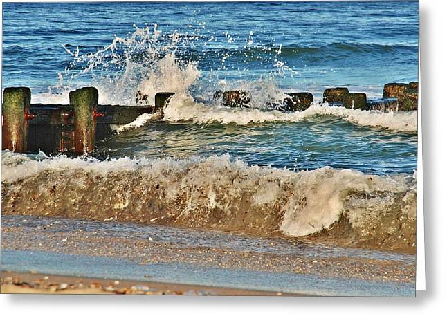 Surf Stir - Jersey Shore Greeting Card by Angie Tirado