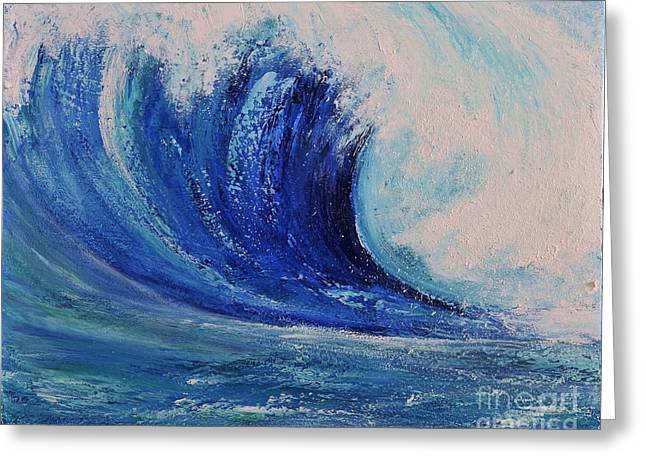 Greeting Card featuring the painting Surf by Teresa Wegrzyn