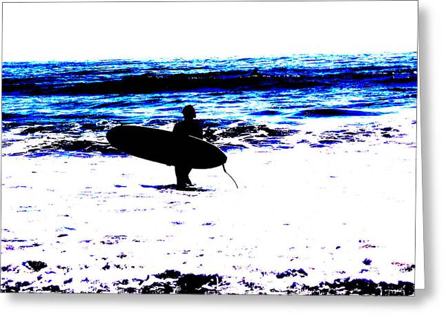 Surf Greeting Card by Tim Tanis