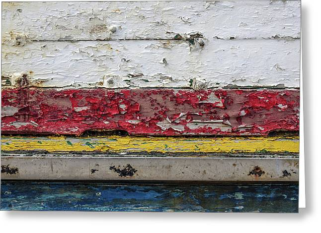 Surface With Peeling Paint Greeting Card by Carlos Caetano