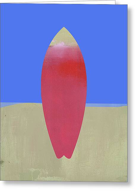 Surfboard Art Greeting Card