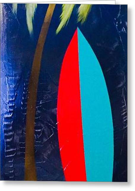 Surfboard Greeting Card by Barry Knauff