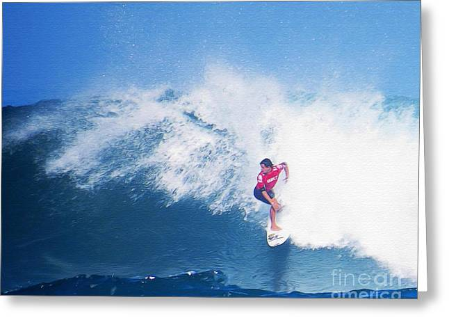 Surfer Alex Ribeiro Greeting Card