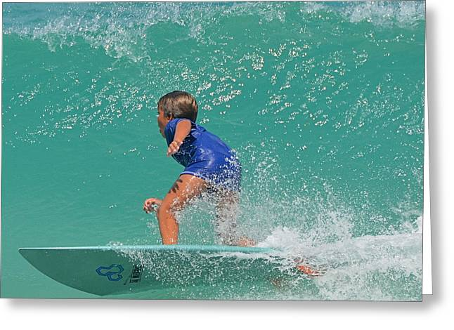 Surfer Boy Greeting Card by  Newwwman