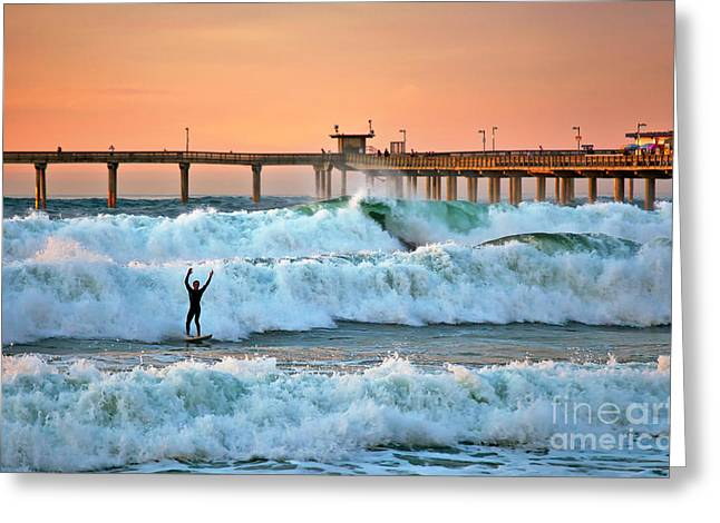 Surfer Celebration Greeting Card