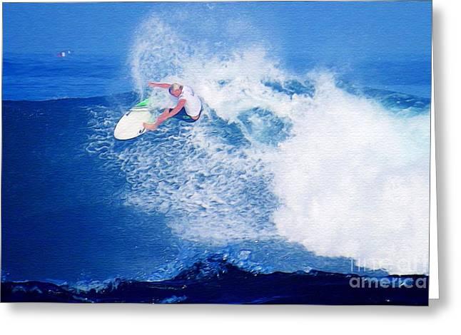 Surfer Charles Martin Nbr. 2 Greeting Card