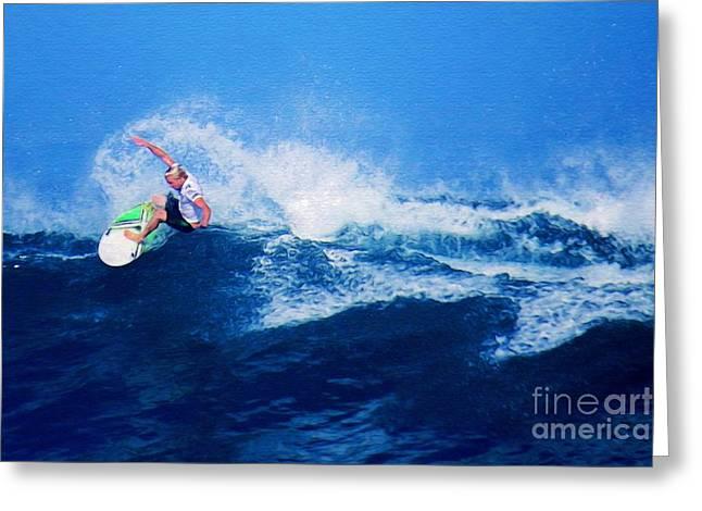 Surfer Charles Martin Nbr. 3 Greeting Card