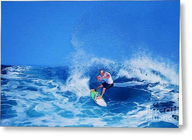 Surfer Charles Martin Greeting Card