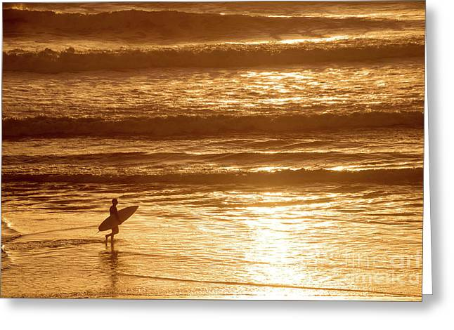 Surfer Greeting Card by Delphimages Photo Creations