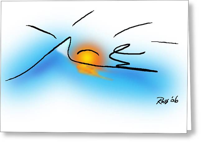 Surfer Dude Greeting Card by Ross Powell
