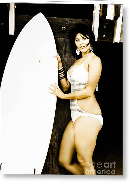 Surfer Lifestyle Greeting Card