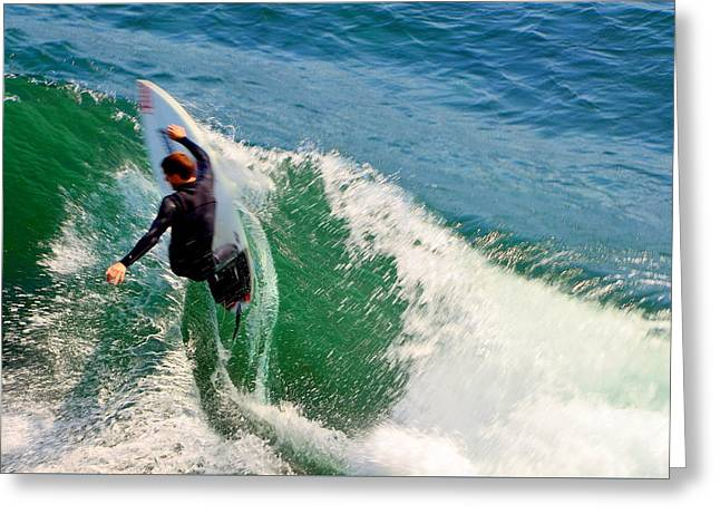 Surfer, Steamer Lane, Series 18 Greeting Card by Antonia Citrino