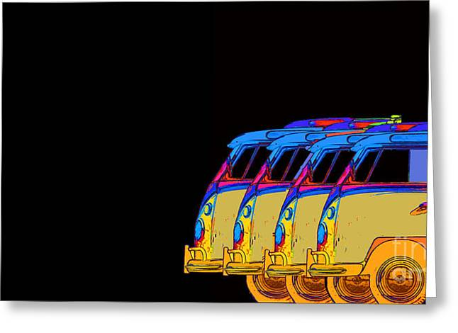 Surfer Vans 7 Greeting Card by Edward Fielding