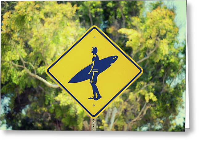 Surfer Xing 1 Greeting Card