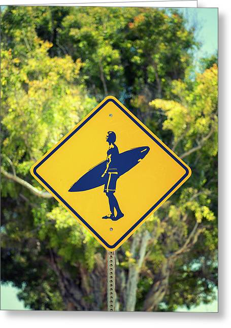 Surfer Xing 2 Greeting Card