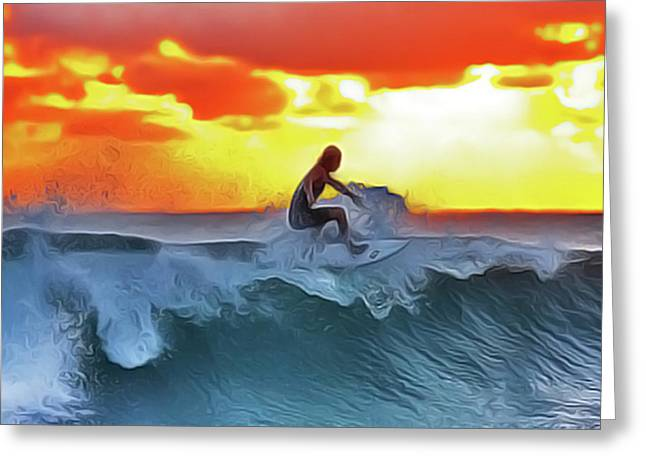 Surferking Greeting Card