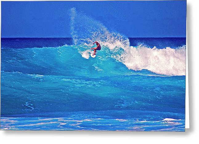 Surfing Photos Greeting Cards - Surfers Aura Greeting Card by Bette Phelan
