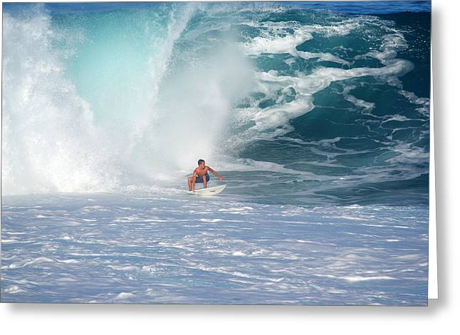 Surfers Graffiti Wall Greeting Card by Kevin Smith
