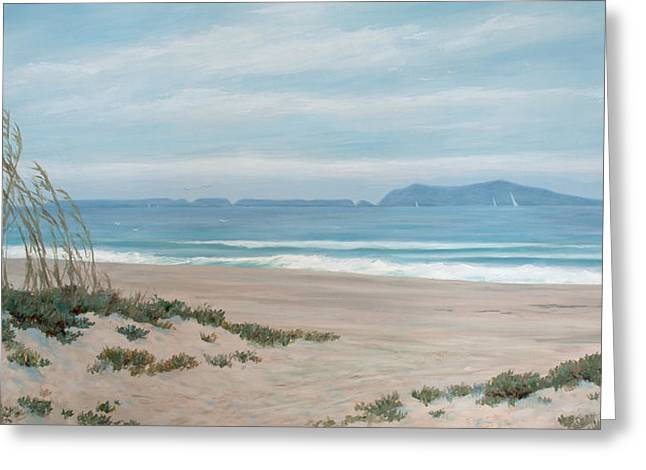 Surfers Knoll Anacapa View #5 Greeting Card by Tina Obrien