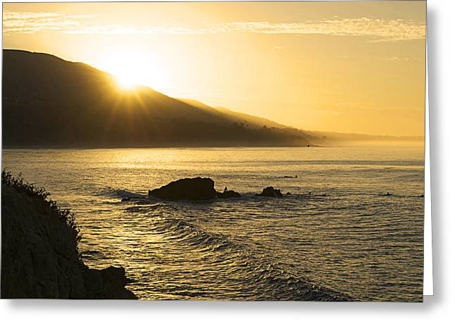 Surfers Morning Greeting Card by Ron Regalado