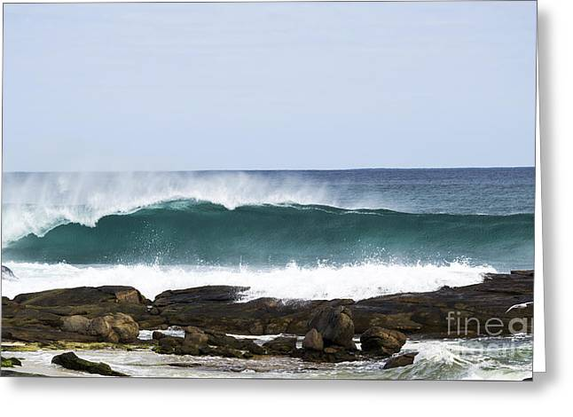 Greeting Card featuring the photograph Surfers Point by Angela DeFrias